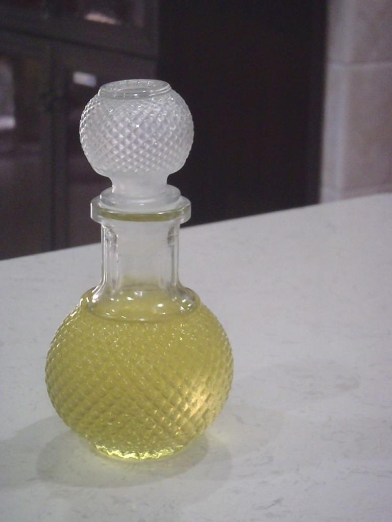 Coconut oil in a glass jar