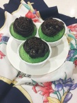 Pandan Cupcake With Chocolate Spread