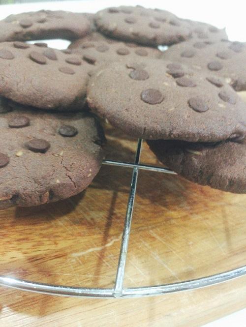 Oat chocolate cookies