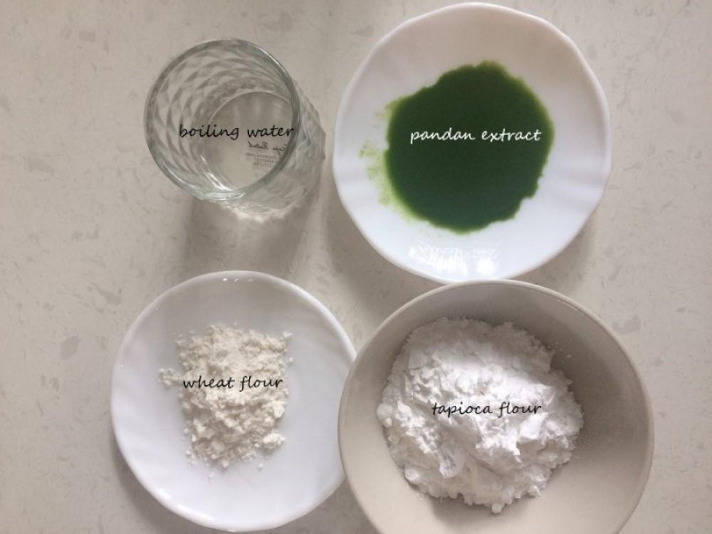 Ingredients for pandan bubble