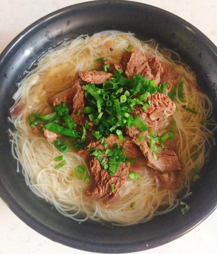 Rice Noodles Beef Soup