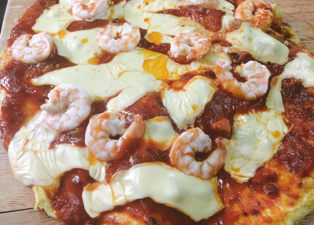 Homemade Seafood Pizza Bread
