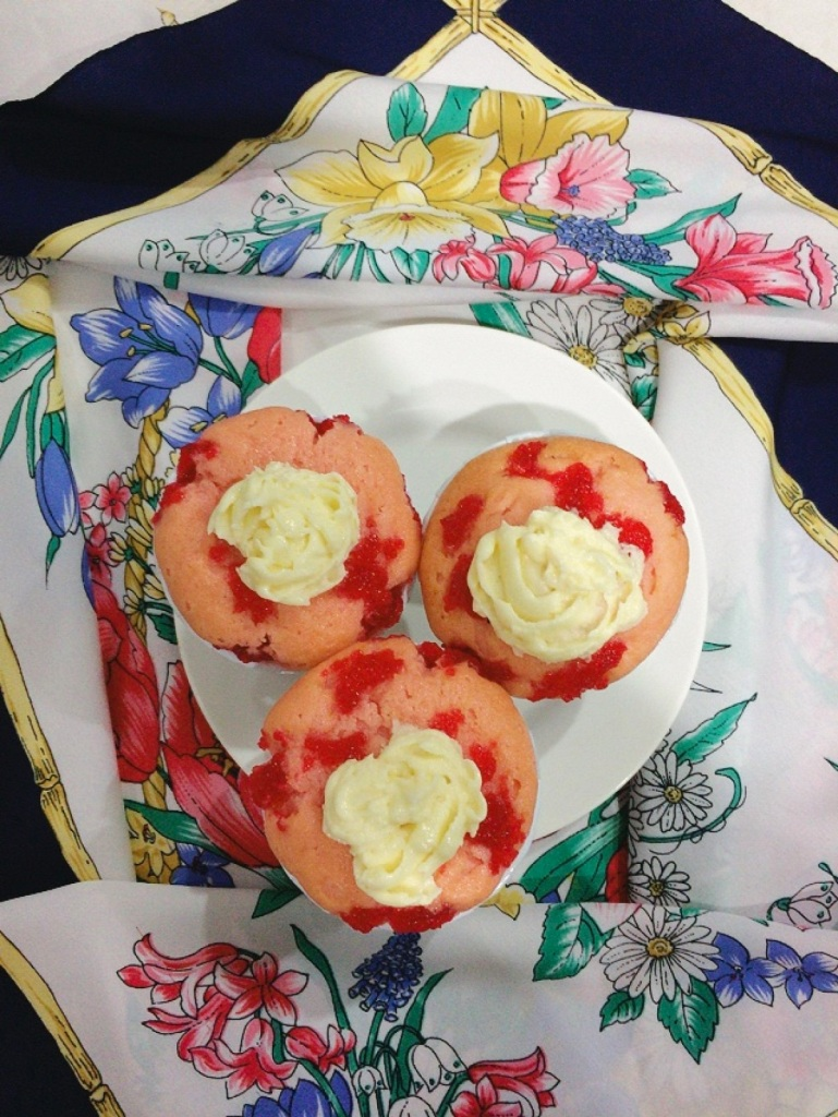 Strawberry Cupcake with Strawberry Jam As Topping
